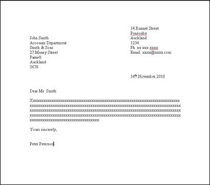 Letter Writing How to Set Out a Formal Letter – Sample Proper Letter Format