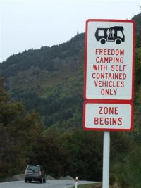 freedom camping zones Yellow ow to
